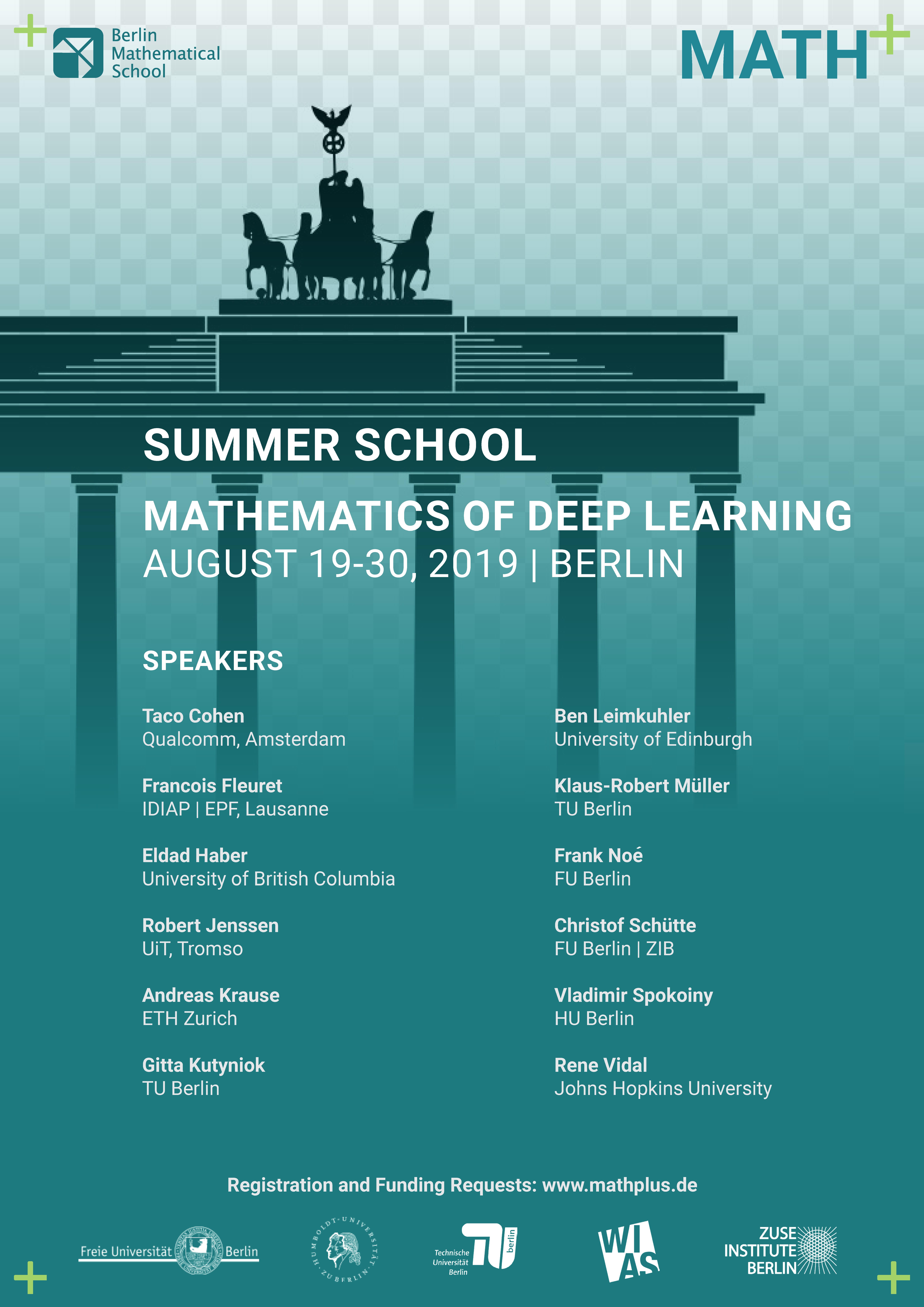 BMS Summer School 2019 Mathematics of Deep Learning